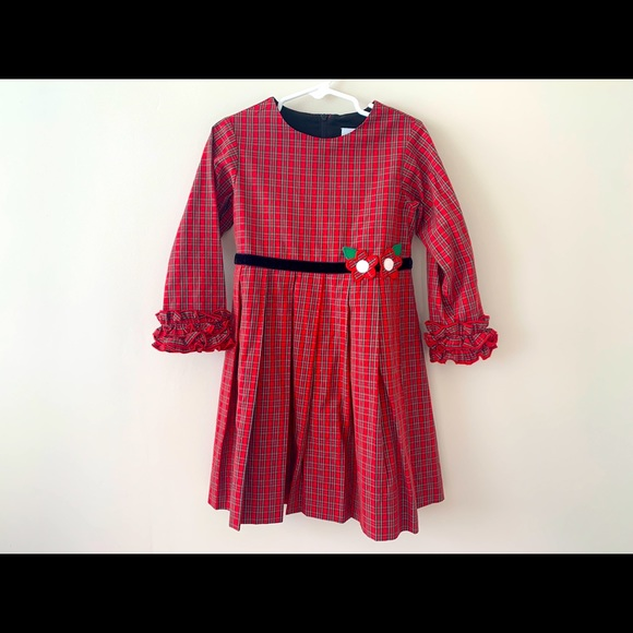 Florence Eiseman Holiday Plaid Red Dress
